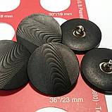 Пуговица пластиковая на металлической ножке. Диаметр 2,3 см. Цвет черный., фото 3