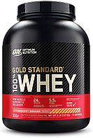 Сывороточный протеин изолят Optimum Nutrition 100% Whey Gold Standard (2.3 кг) оптимум вей голд стандарт strawberry banana