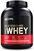 Сывороточный протеин изолят Optimum Nutrition 100% Whey Gold Standard (2.3 кг) оптимум вей голд стандарт strawberry & cream