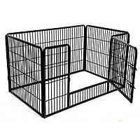 Вольер металлический разборной для собак и щенков Dog Land манеж для собак - 125 x 80 x 70 см
