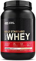 Сывороточный протеин изолят Optimum Nutrition 100% Whey Gold Standard (0,9 кг) оптимум вей голд стандарт  cake donut