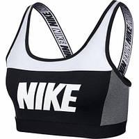 Топик женский Nike SPORT DISTRICT CLASSIC BRA черно-белый AQ0142-100