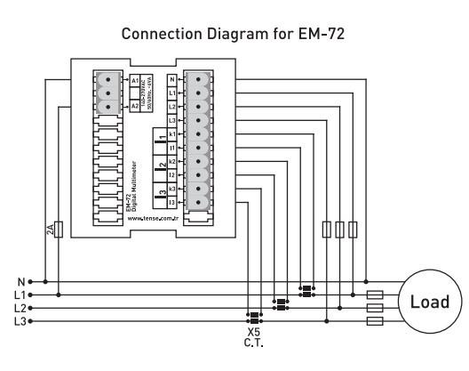 Схема подключения мультиметра EM-72