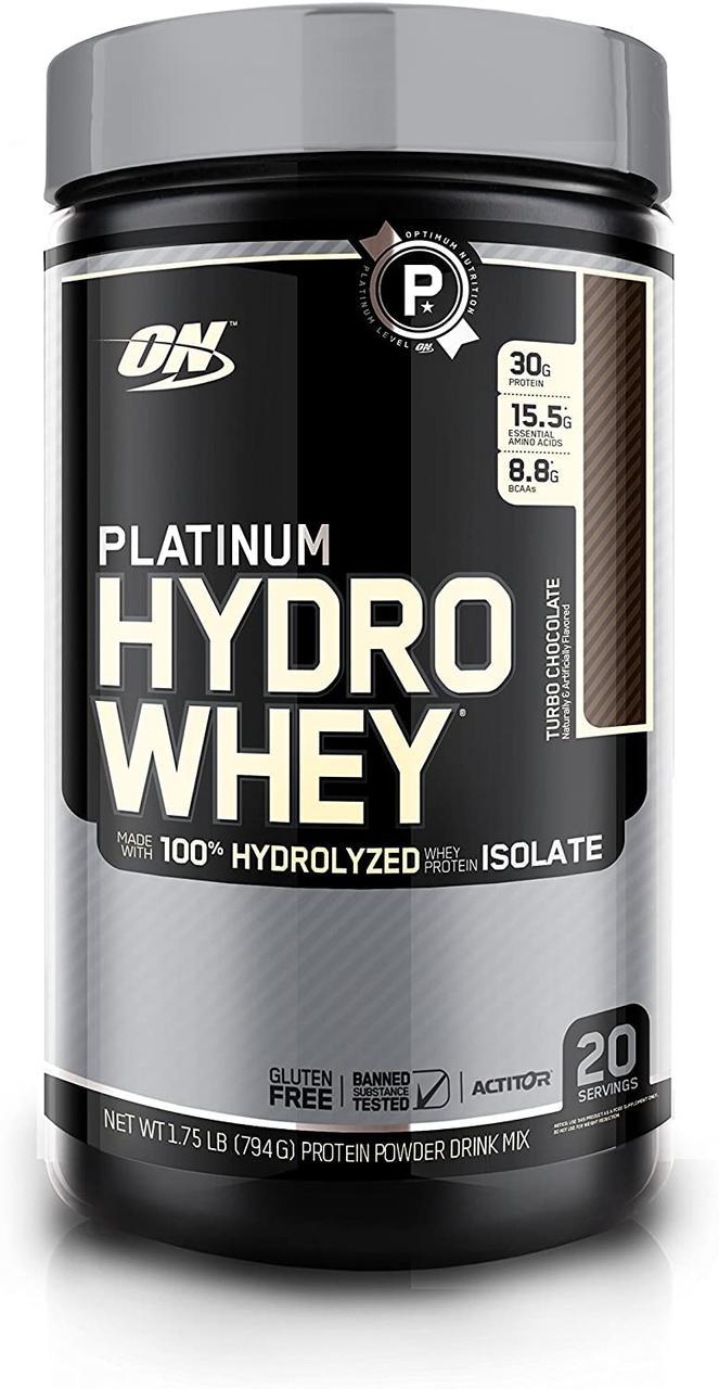 Сывороточный протеин гидролизат Optimum Nutrition Platinum Hydro Whey (795 г)  платинум вей печенье-крем