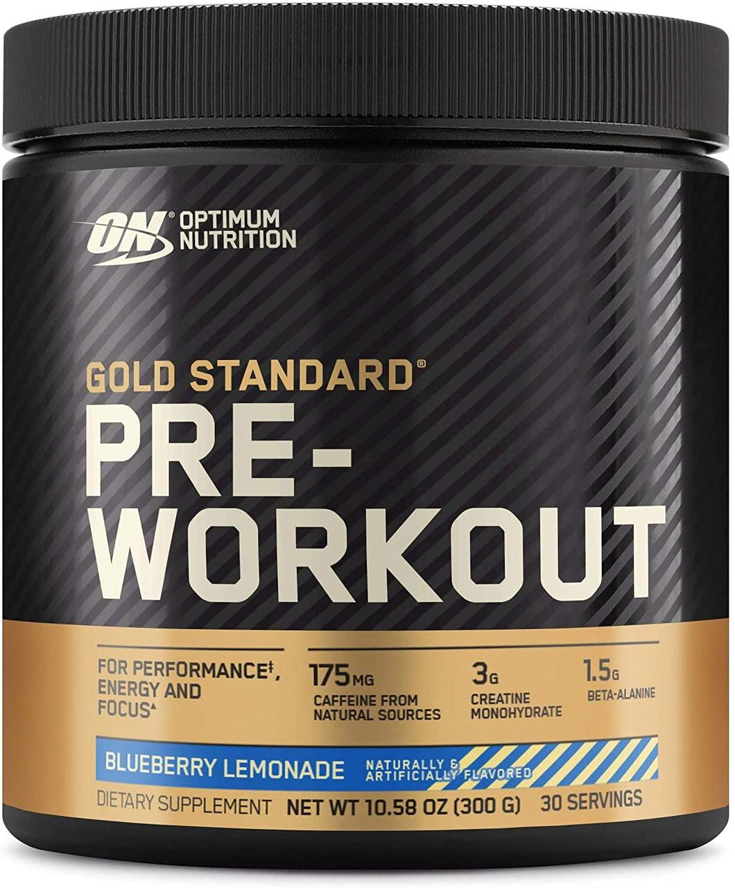 Предтреник Optimum Nutrition Pre-Workout gold standard (300 г) оптимумт нутришн blueberry lemonade