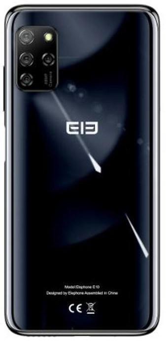"""Смартфон Elephone E10 4/64Gb Black, 48+12+5+2/15Мп, 6.5"""" IPS, 2sim, 8 ядер, 4000mAh, Helio P22, 4G"""
