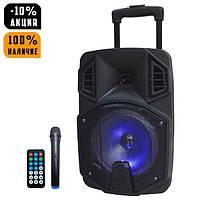 Беспроводная портативная Bluetooth колонка чемодан с микрофоном AILIANG LiGE Q8BK, радио, бумбокс Speaker