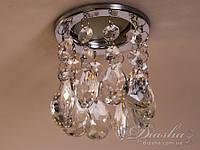 Точечный светильник с хрустальными подвесками6042D CH-CA, фото 1