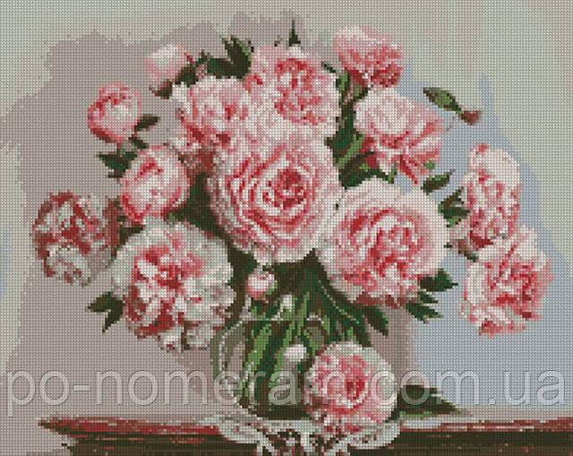 алмазная вышивка розовые пионы идейка