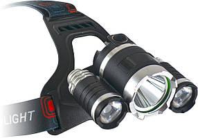 Ліхтарик на голову ENERGOTEAM Outdoor Saturnus, 3 LED, Зарядка, 2 літієві батареї