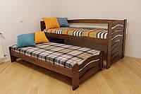 """Одноярусная кровать Drimka """"Мальва"""" с дополнительным выдвижным спальным местом."""