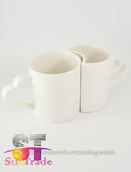 Чашка сублимационная белая LOVE парная,330 мл