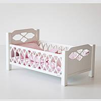 Кукольная кровать белая в скандинавском стиле