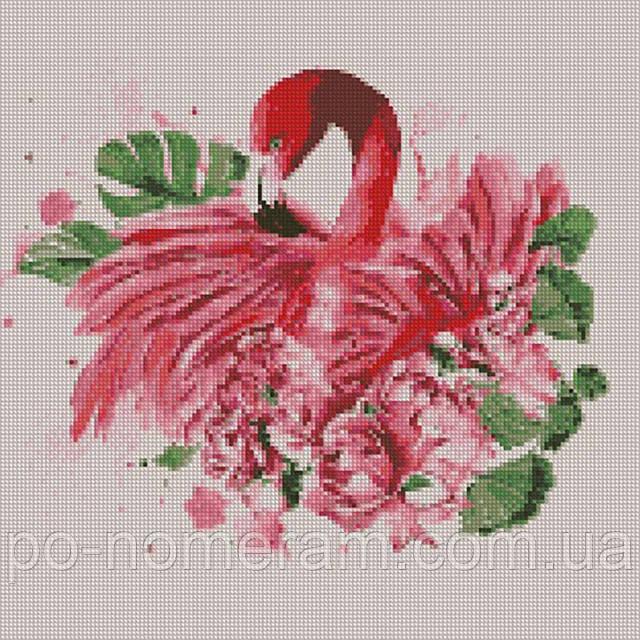 Алмазная вышивка Идейка Грациозный фламинго