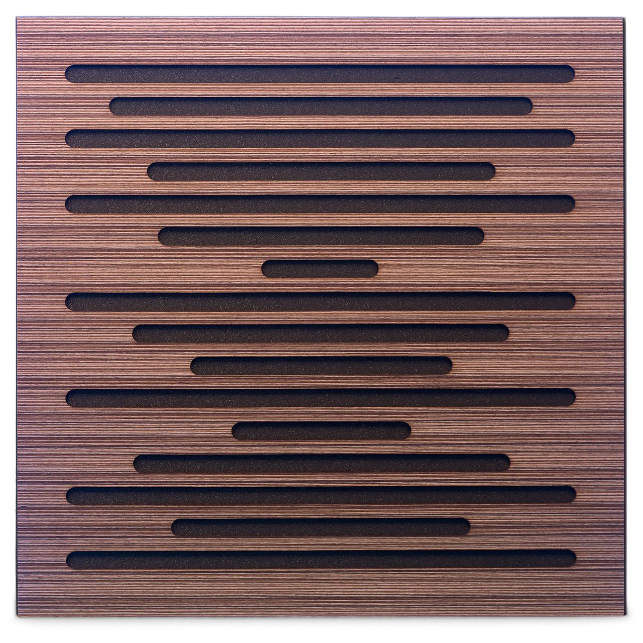 Акустическая панель Ecosound EcoWave Venge Contrast 50x50см 73мм цвет коричневый в полоску