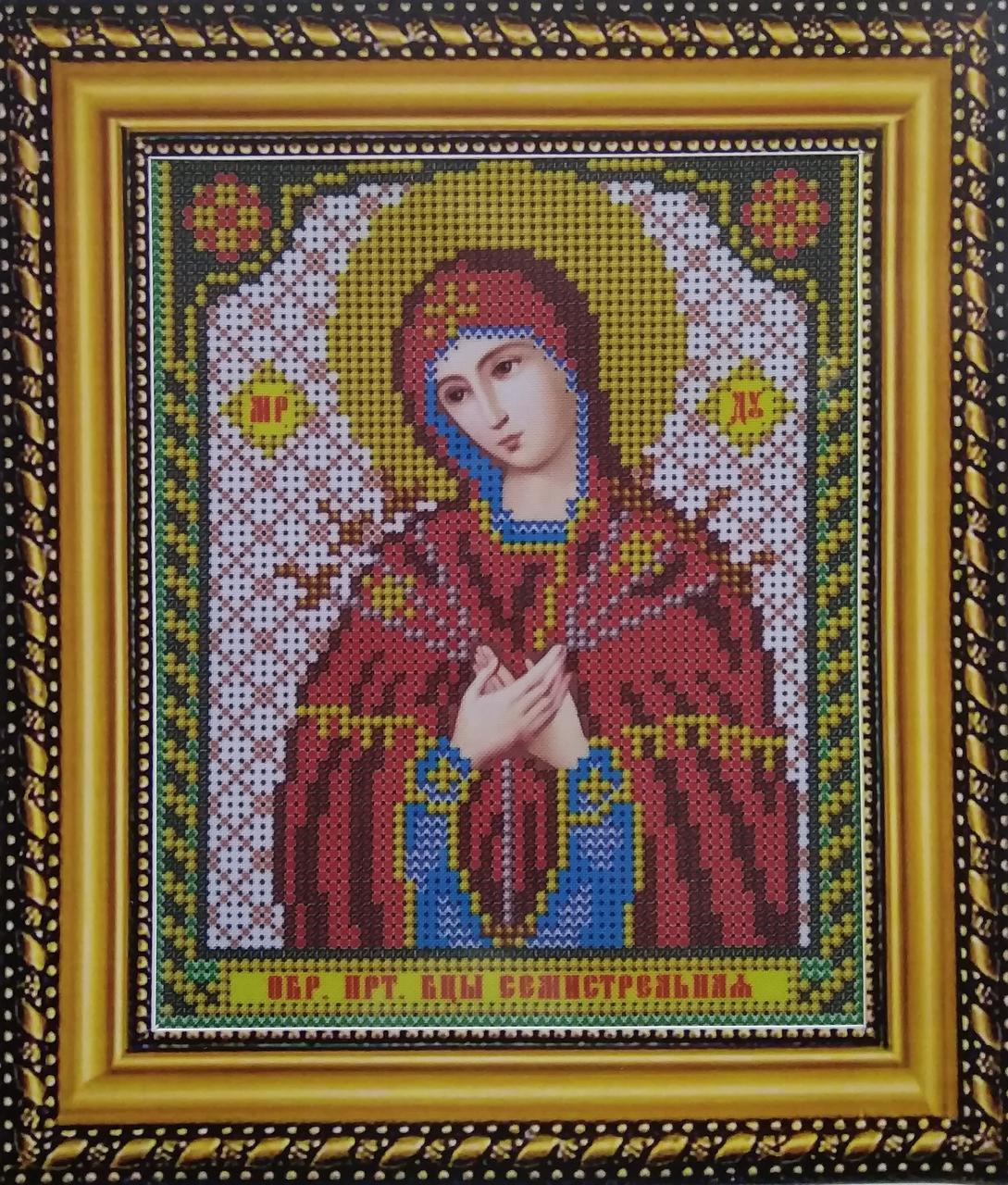 Набор для вышивки бисером ArtWork икона Пресвятая Богородица Семистрельная VIA 5004