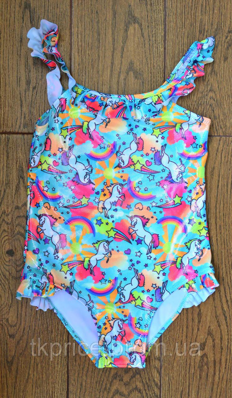 Модный слитный купальник для девочки 202 с 4 до 12 лет