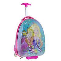 Чемодан YES детский на колесах Barbie LG-3 для девочки (557828)