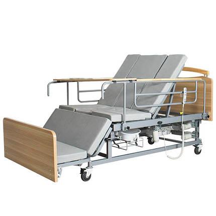 Медицинская электрокровать с туалетом и боковым переворотом MIRID Е04. Кровать для реабилитации инвалида., фото 2
