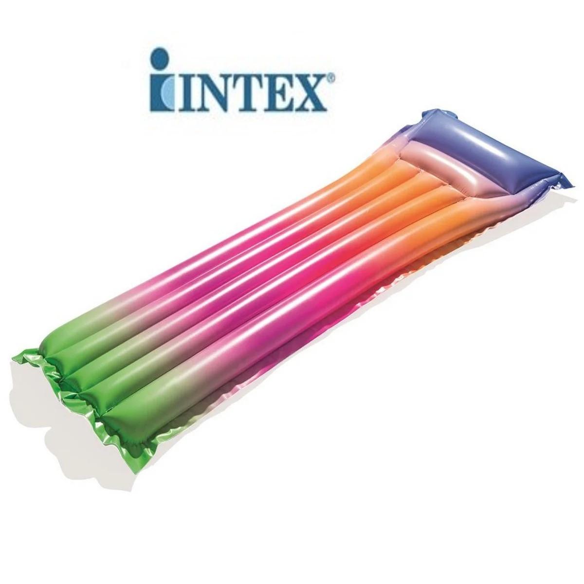 Пляжный одинарный надувной матрас для плаванья Радуга INTEX 44041
