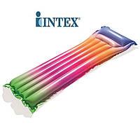 Пляжный одинарный надувной матрас для плаванья Радуга INTEX 44041, фото 1