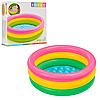 Разноцветный детский надувной бассейн с надувным дном круглой формы  Intex 58924, фото 2