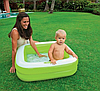 Разноцветный детский надувной бассейн с надувным дном квадратной формы  Intex 57100, фото 4
