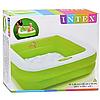 Разноцветный детский надувной бассейн с надувным дном квадратной формы  Intex 57100, фото 10