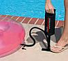 Насос ручной INTEX 29 СМ для накачивания надувных матрасов и бассейнов с насадками, фото 3