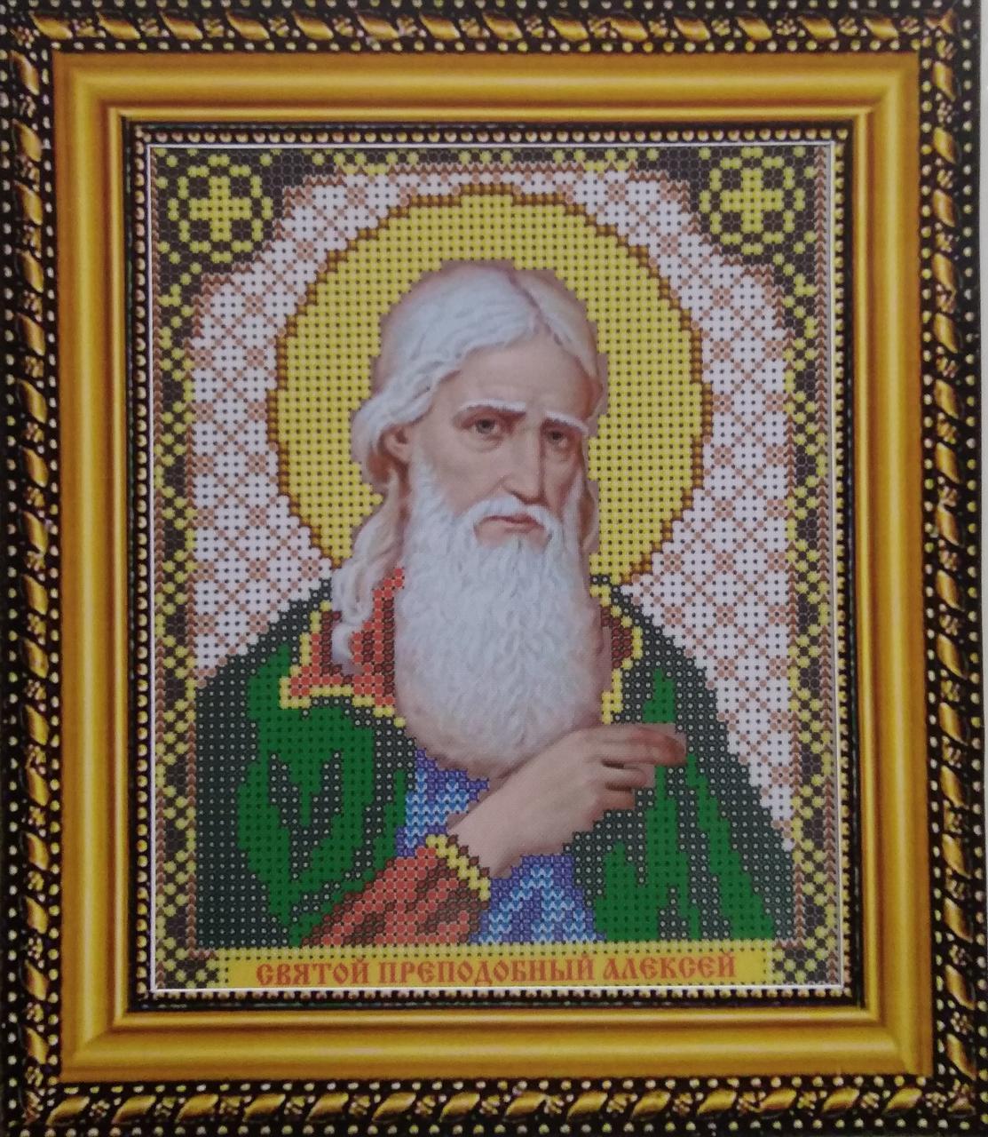 Набор для вышивки бисером ArtWork икона Святой Преподобный Алексей VIA 5015