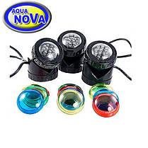 Светильник для пруда AquaNova NPL1-LED3   (к-т 3 лампы, датчик день/ночь)