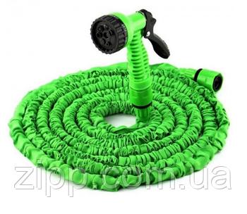 Усиленный садовый шланг для полива XHose 45м. с распылителем и переходником Magic Hose