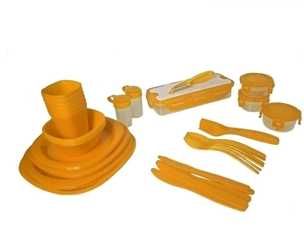 Набір для пікніка OM106-65 на 6 персон, жовтий