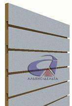 Эконом-панель, экспо-панель, серебро H=1800мм, W=900мм, шаг 150мм, 11 пазов, Алюм.с цвет.вкладышем