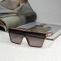 Женские брендовые солнцезащитные очки маска (2020) beige