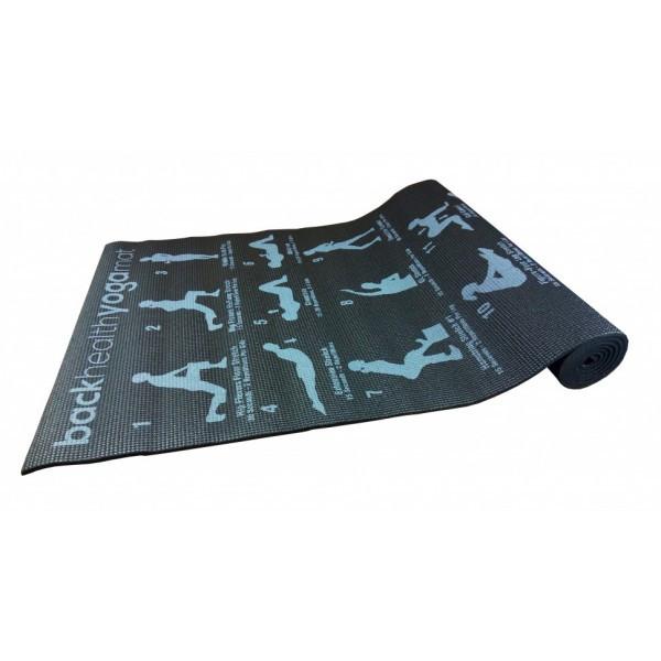 Коврик Для Йоги Фитнеса Гимнастики Йогамат Metr 173*61 см. Черный (MS 1845-1Black)