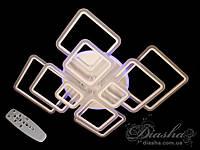 Потолочная LED-люстра с диммером и подсветкой, 290WA8160-10BK LED 3color dimmer, фото 1