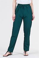 Летние женские брюки штаны на резинке султанки А 13 зеленые / норма и большие размеры, фото 1