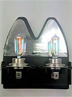 Лампы H7 12V 100W Warm Rainbow Intense +50% Raybrig Япония. Галогеновые лампы с эффектом ксенона.