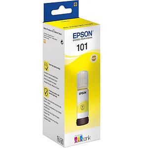 Чернила для EPSON L4160 принтера, желтые краски, оригинальные, контейнер * 70 мл .(OEM-EPSON-L4160-Y-70)