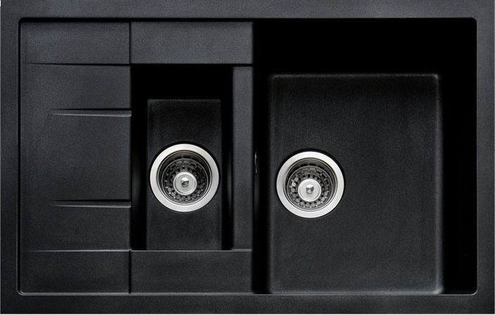 Кухонные мойки Adamant Кухонная мойка Adamant Anila Plus-03 черная