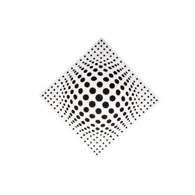 Акустическая панель Ecosound Lens White 50х50см 73мм цвет белый