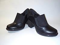Женские туфли,осенние женские стильные туфли в комбенированом цвете на резинках на удобном устойчивом каблуке