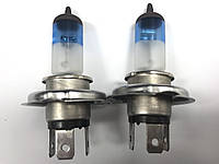 Лампы H4 12V 100W Cool Blue Intense +50% Raybrig Япония. Галогеновые лампы с эффектом ксенона.