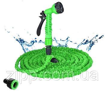 Усиленный садовый шланг для полива XHose 60м с распылителем Magic Hose