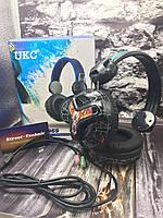 Геймерские наушники с микрофоном для компьютерных игр проводные с разноцветной подсветкой