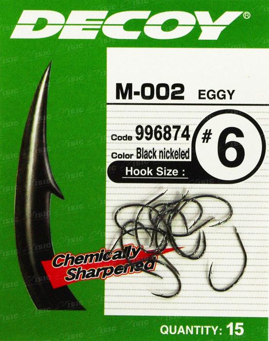 Крючок Decoy M-002 Eggy #8 (15 шт/уп)