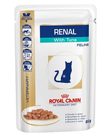 Влажный корм для кошек Royal Canin (Роял Канин) RENAL FELINE TUNA pouches при почечная недостаточности тунец, 85 г
