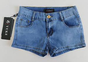 Джинсовые короткие шорты для девочек