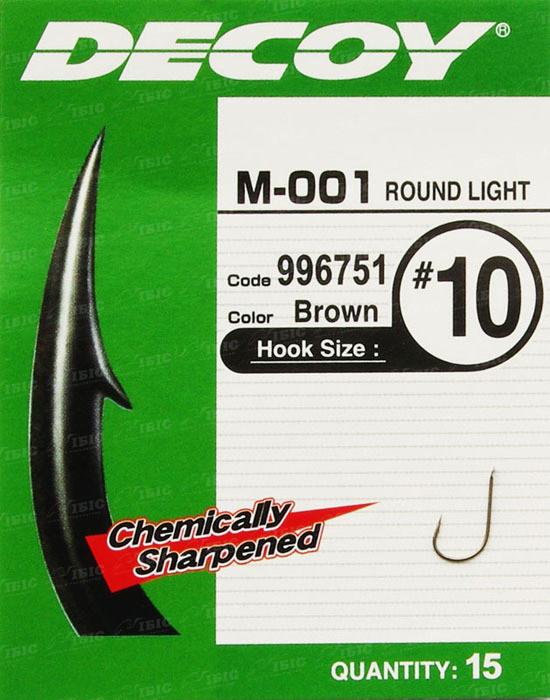 Крючок Decoy M-001 Round Light #16 (15 шт/уп)